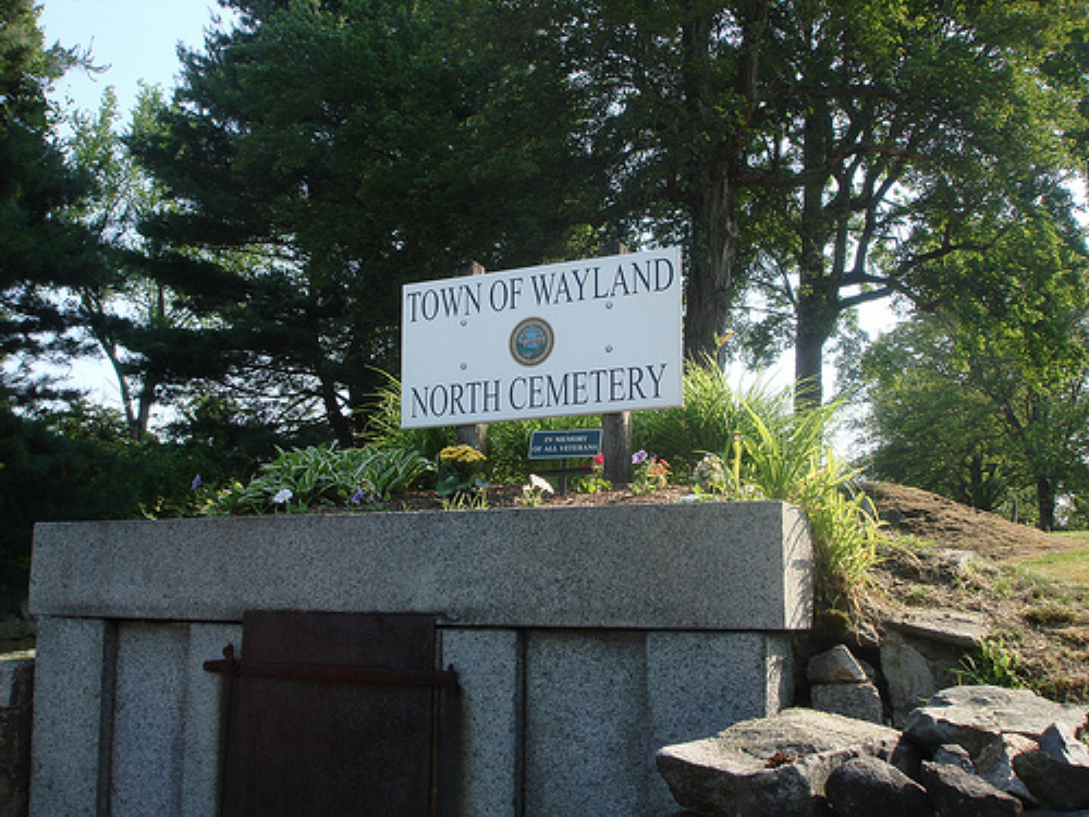 North Cemetery AKA  North Wayland, Old North Cemetery
